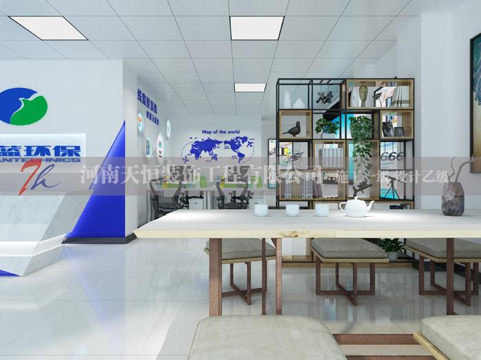 信阳环保展厅设计案例,信阳科蓝环保展厅效果图